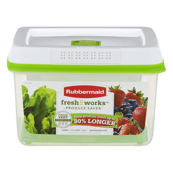 Rubbermaid Fresh Works Produce Saver Large Container & Lid 4 Liter