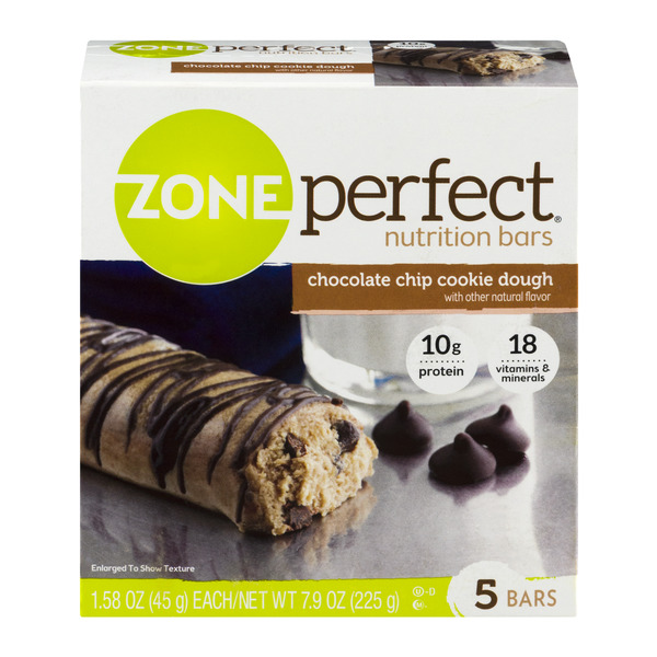 ZonePerfect Nutrition Bars Chocolate Chip Cookie Dough - 5 ct