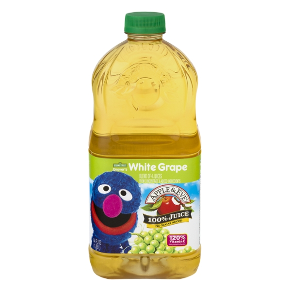 Apple & Eve 100% White Grape Juice Sesame Street Grover's