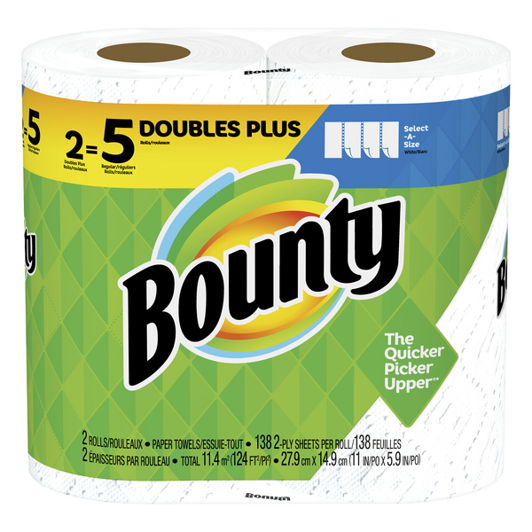 Bounty Select-A-Size Paper Towels Huge Roll 2-Ply White