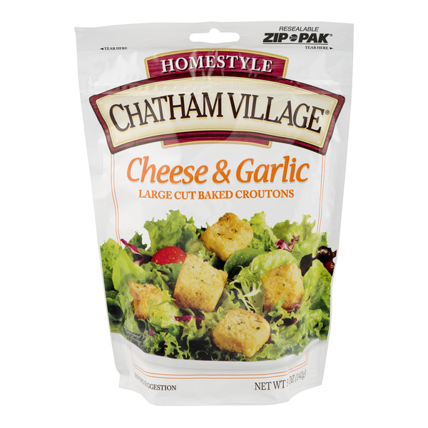 Chatham Village Croutons Cheese & Garlic Large Cut