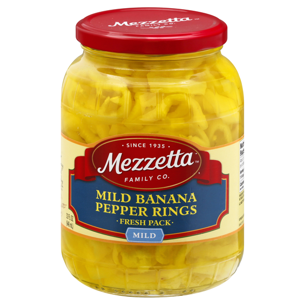 Mezzetta Banana Pepper Rings Mild Deli-Sliced