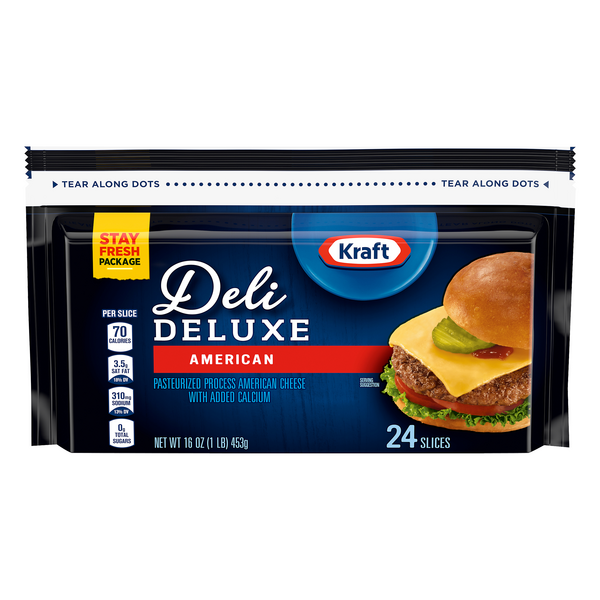 Kraft Deli Deluxe American Cheese Slices - 24 ct