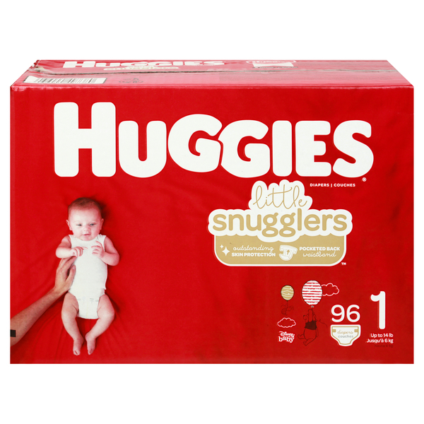Huggies Little Snugglers Size 1 Diapers Up To 14 lbs