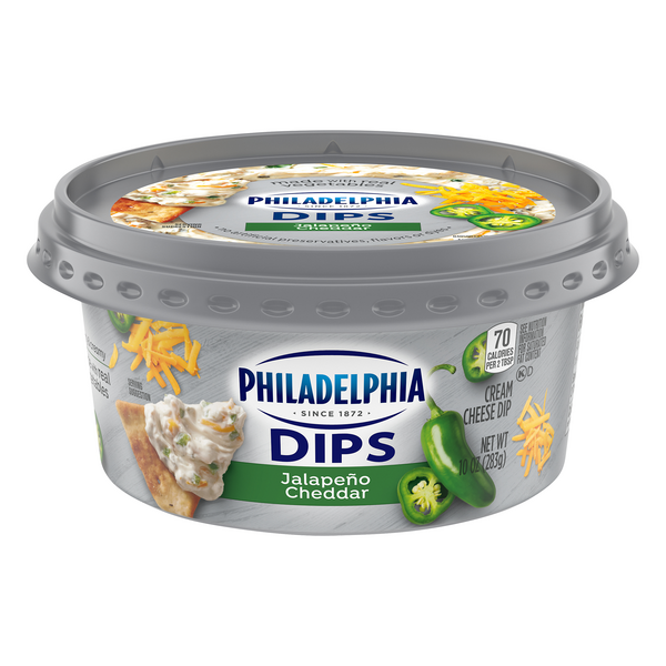 Philadelphia Cream Cheese Dips Jalapeno Cheddar