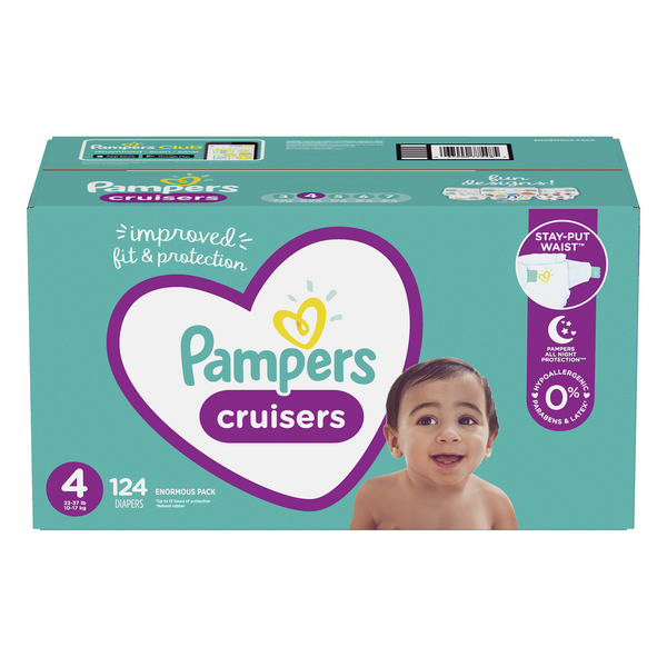 Pampers Cruisers Size 4 Diapers 22-37 lbs