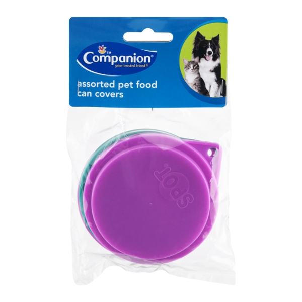 Companion Essentials Pet Food Can Covers Assorted Colors