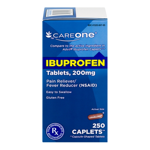 CareOne Ibuprofen Pain Relief 200 mg Caplets