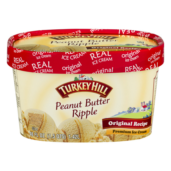 Turkey Hill Original Recipe Premium Ice Cream Peanut Butter Ripple