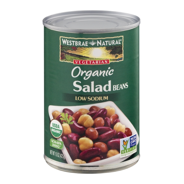 Westbrae Natural Salad Beans Vegetarian Low Sodium Organic