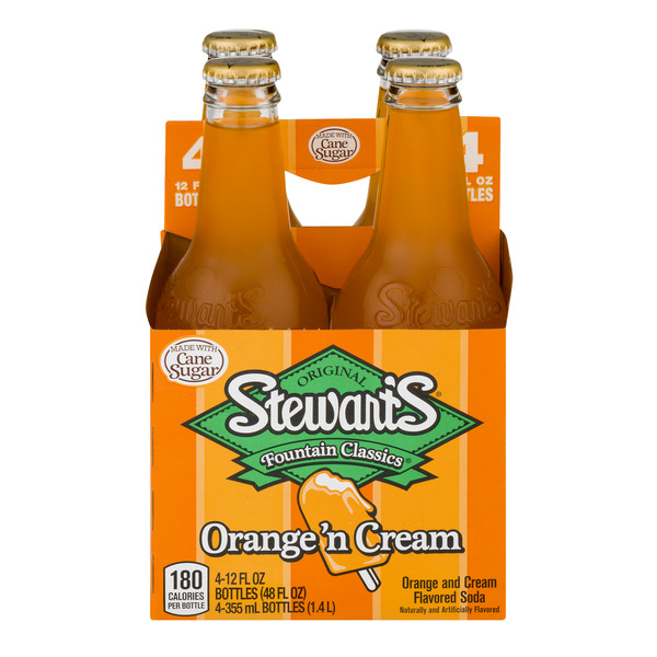 Stewart's Fountain Classics Orange 'n Cream Soda - 4 pk