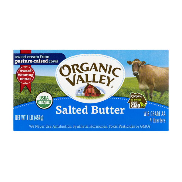 Organic Valley Butter Salted Sticks - 4 ct