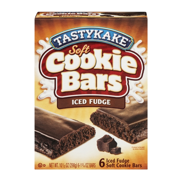 Tastykake Soft Cookie Bars Iced Fudge - 6 ct