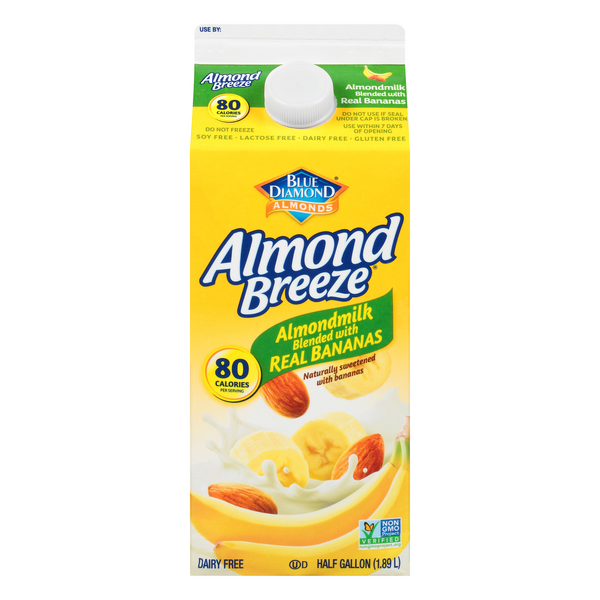 Blue Diamond Almond Breeze Almond Milk Blended with Real Bananas