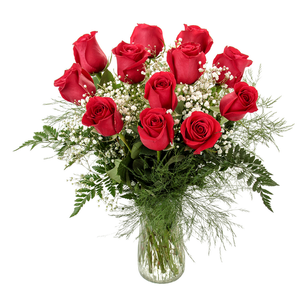 Roses Red Arrangement with Vase