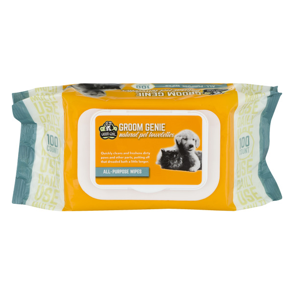 Groom Genie Natural Pet Towelettes All-Purpose