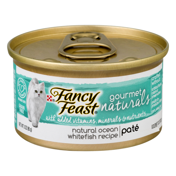 Fancy Feast Gourmet Naturals Wet Cat Food Pate Ocean Whitefish Recipe