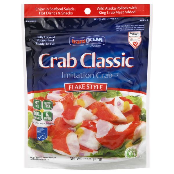 transOcean Crab Classic Flake Style Imitation Crab