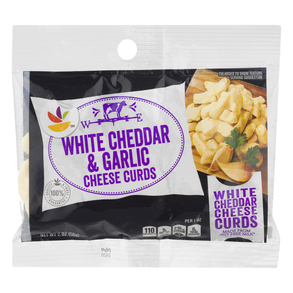 GIANT Cheese Curds White Cheddar & Garlic