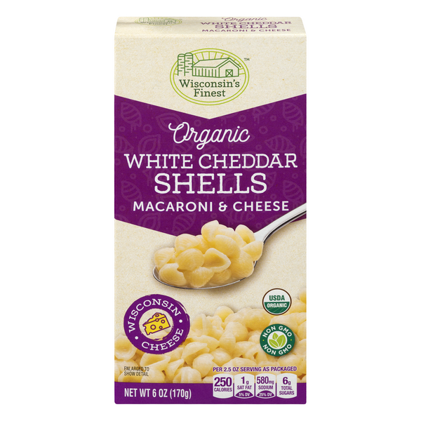 Wisconsin's Finest White Cheddar Shells Macaroni & Cheese Organic