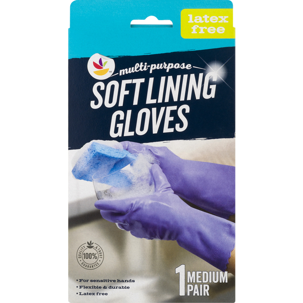 Smart Living Latex Free Gloves Soft Lining Medium