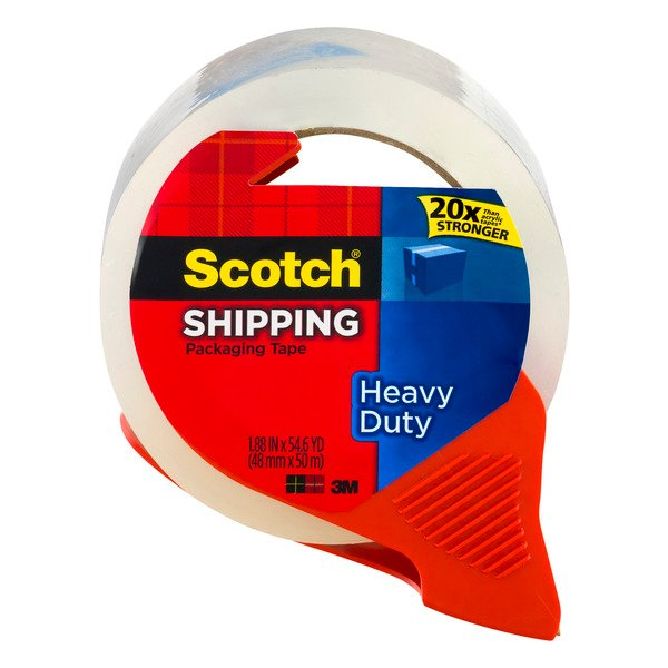 3M Scotch Shipping Tape Heavy Duty with Dispenser 1.88 Inch