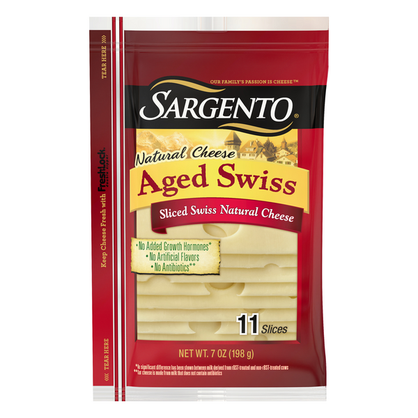 Sargento Swiss Cheese Aged Slices - 11 ct