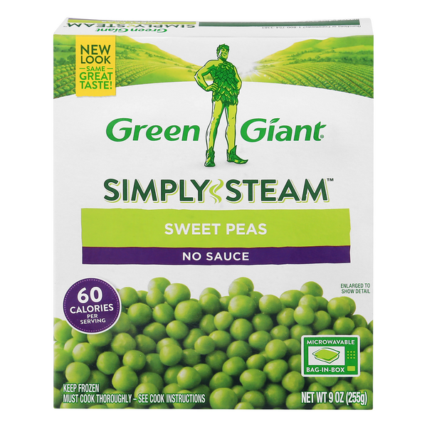 Green Giant Simply Steam Sweet Peas No Sauce