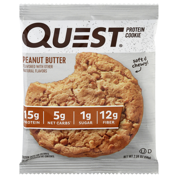 Quest Protein Cookie Peanut Butter Flavored