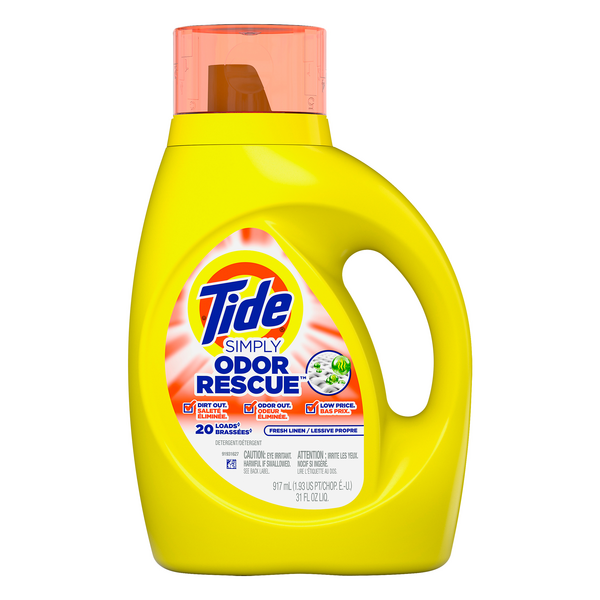 Tide Simply Odor Rescue Liquid Laundry Detergent Fresh Linen