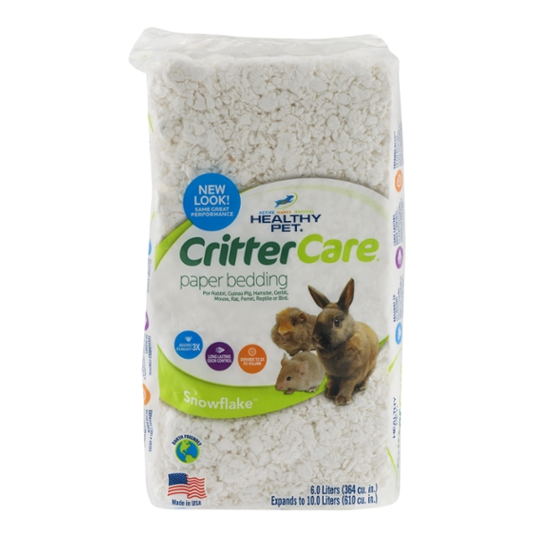 Healthy Pet CritterCare Paper Pet Bedding Snowflake 6 Liters