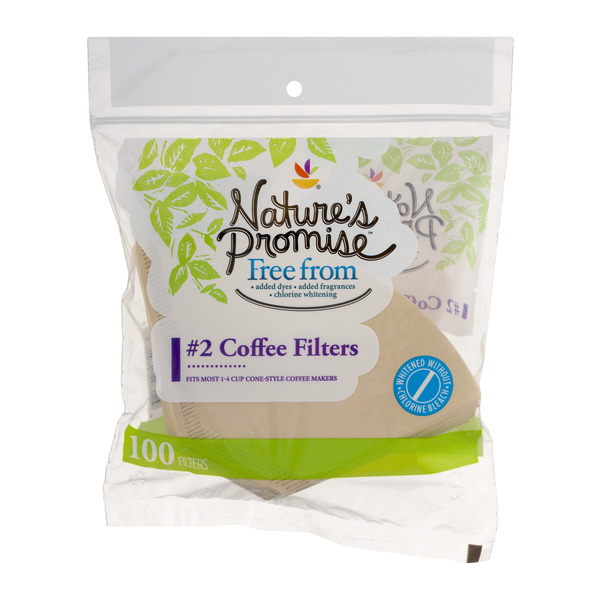 Nature's Promise Free from Coffee Filters Cone-Style Natural #2