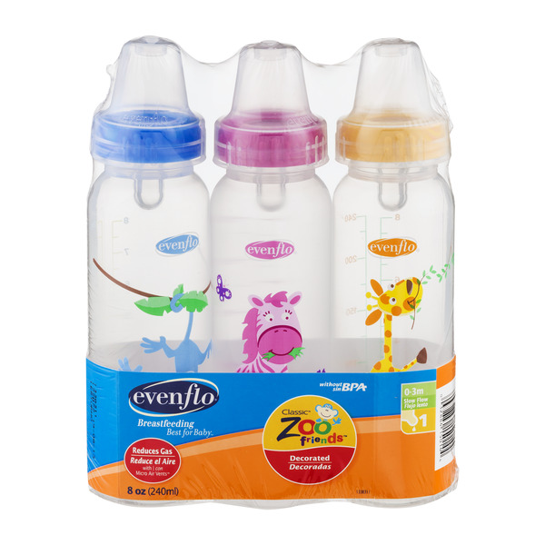 Evenflo Classic Zoo Friends Bottles 0-3m