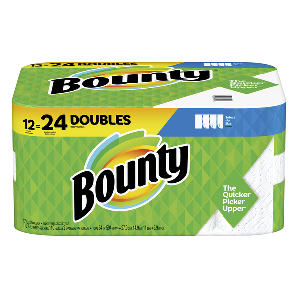 Bounty Select-A-Size Paper Towels Double Roll 2-Ply White
