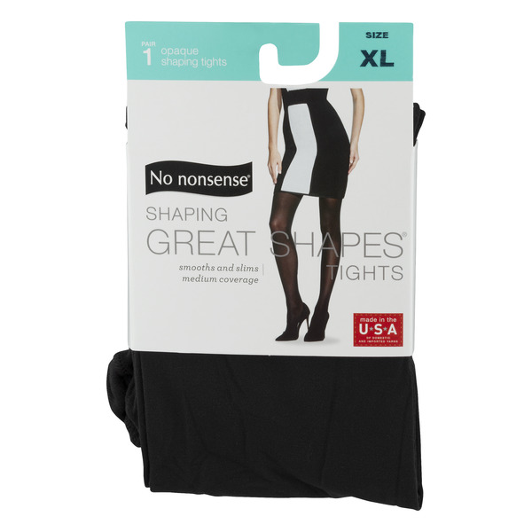 No nonsense Opaque Great Shaping Tights XL Black