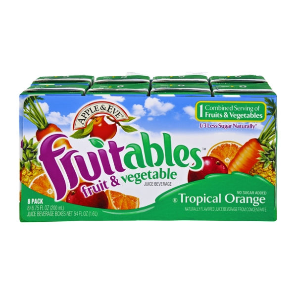 Apple & Eve Fruitables Tropical Orange Fruit & Vegetable Juice Boxes 8 pk