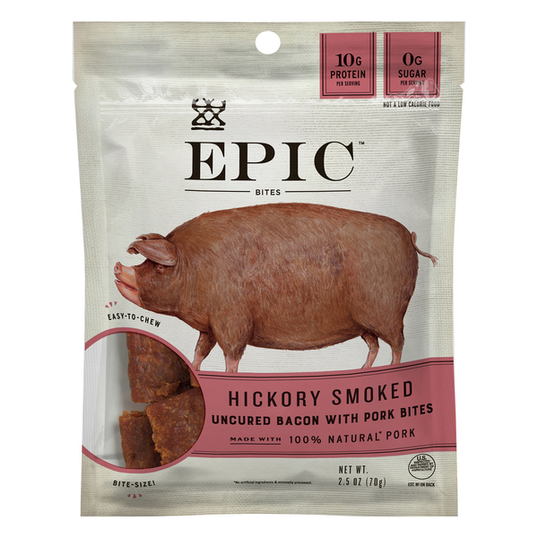 EPIC Bites Hickory Smoked Uncured Bacon & Pork Gluten Free