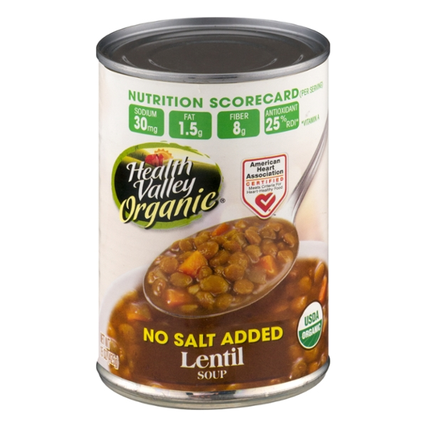 Health Valley Lentil Soup No Salt Added Organic