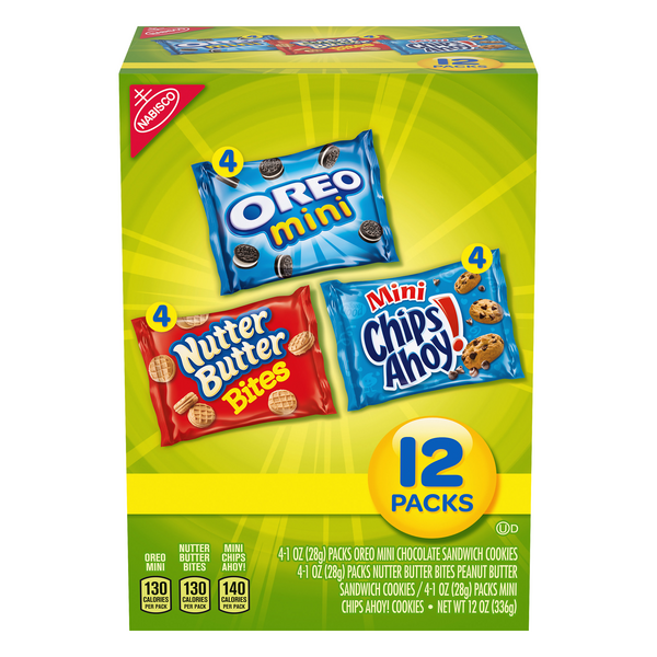 Nabisco (Mini Chips Ahoy! /Nutter Butter /Oreos) Variety Pack - 12 ct