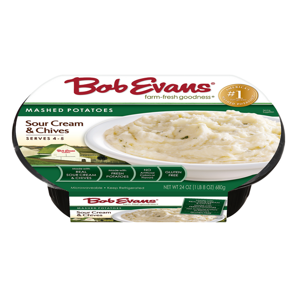 Bob Evans Mashed Potatoes Sour Cream & Chive Gluten Free