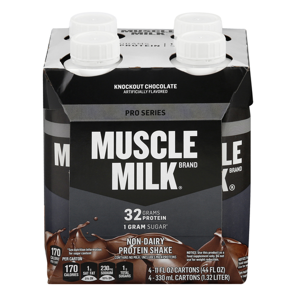 Muscle Milk Non-Dairy Pro Series Protein Shake Knockout Chocolate - 4 pk