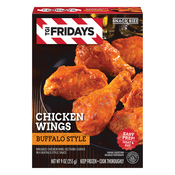 TGI Fridays Breaded Chicken Wings Buffalo Style Sauce Frozen