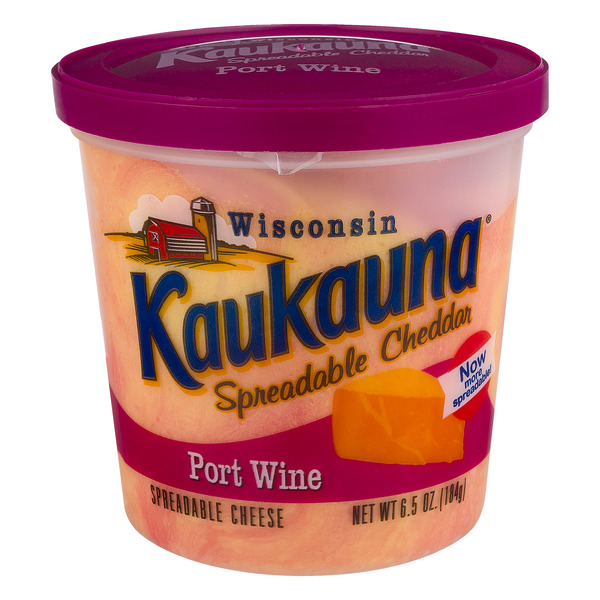 Kaukauna Spreadable Cheddar Cheese Port Wine