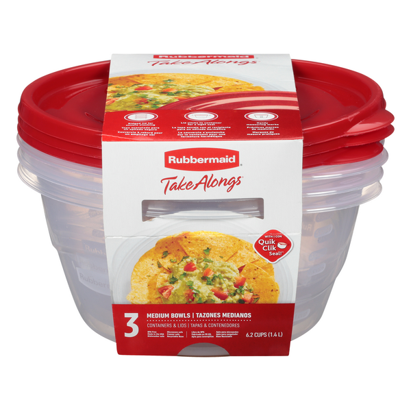 Rubbermaid Take Alongs Medium Bowls Containers + Lids