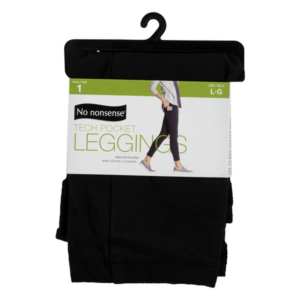 No nonsense Tech Pocket Leggings Black Size L