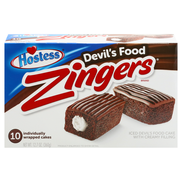 Hostess Zingers Devil's Food - 10 ct