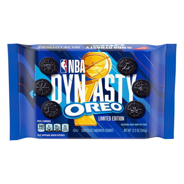 Nabisco Oreo NBA Dynasty Sandwich Cookies Chocolate Limited Edition