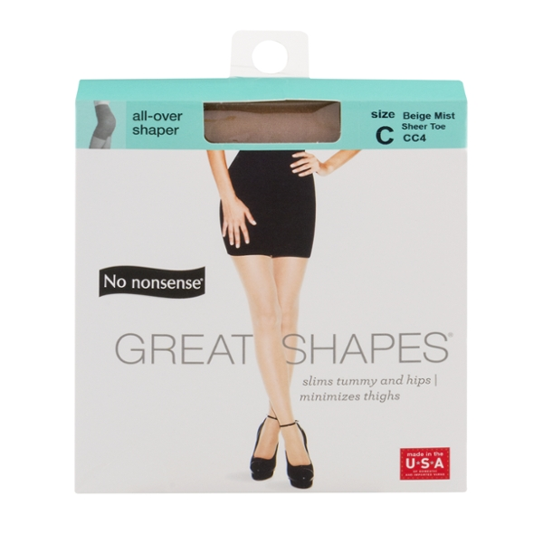 No Nonsense Great Shapes Pantyhose Beige Mist Size C