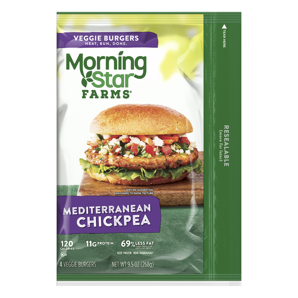 MorningStar Farms Veggie Burgers Mediterranean Chickpea - 4 ct Frozen
