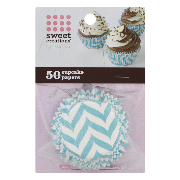 Sweet Creations Cupcake Papers Blue Chevron